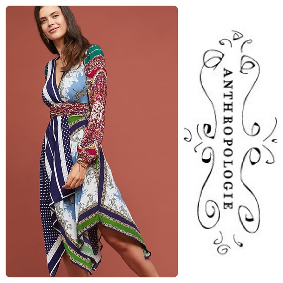 Anthropologie Dresses & Skirts - New Anthropologie Istanbul Wrap Dress Navy